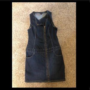 Women's G by Guess mini Zip up Jean Dress Size M